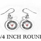 AK-CHIN NATIVE INDIAN Flag FISH HOOK CHARM Earrings