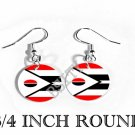 ARAPAHO AMERICAN INDIAN Flag FISH HOOK CHARM Earrings