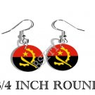 ANGOLA ANGOLAN Flag FISH HOOK CHARM Earrings