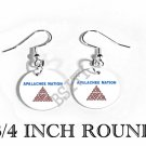 APALACHEE NATION INDIAN Flag FISH HOOK CHARM Earrings