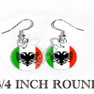 ARBERESHE ABERESHE ITALY Flag FISH HOOK CHARM Earrings