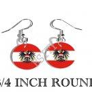 AUSTRIA AUSTRIAN Flag FISH HOOK CHARM Earrings