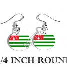 Abkhazia Georgia Apsny Flag FISH HOOK CHARM Earrings
