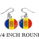 Andorra d'Andorre Flag FISH HOOK CHARM Earrings