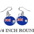 Anguillian ANGUILLA Flag FISH HOOK CHARM Earrings