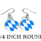 BAVARIA BAVARIAN Flag FISH HOOK CHARM Earrings