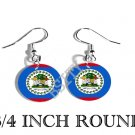 BELIZE BELIZEAN Flag FISH HOOK CHARM Earrings