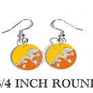 BHUTAN Druk Gyal-khab Flag FISH HOOK CHARM Earrings