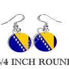 BOSNIA BOSNIAN Flag FISH HOOK CHARM Earrings
