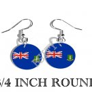 BRITISH VIRGIN ISLANDS Flag FISH HOOK CHARM Earrings