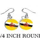 BRUNEI Bruneiana Flag FISH HOOK CHARM Earrings