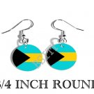 Bahamas Bahamian Flag FISH HOOK CHARM Earrings