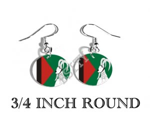 Balawaristan National Front Flag FISH HOOK CHARM Earrings