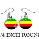 Bamileke National Movement Flag FISH HOOK CHARM Earrings