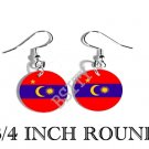 Barisan Revolusi Nasional Flag FISH HOOK CHARM Earrings