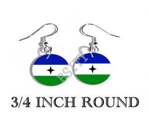 Bubi People BANTU GUINEA Flag FISH HOOK CHARM Earrings