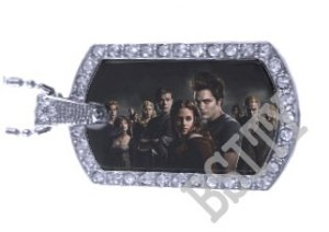 Iced OUT CZ TWILIGHT GROUP PHOTO Dog Tag BLING CHARM PENDANT