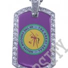 CHOCTAW INDIAN FLAG Iced Out CZ BLING Dog Tag