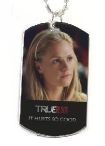 SOOKIE STACKHOUSE 2 TRUE BLOOD PHOTO Silver Dog Tag NECKLACE Pendant Jewelry