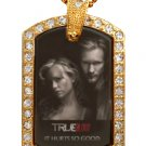 SOOKIE ERIC TRUE BLOOD PHOTO GOLD CZ BLING CHARM Dog Tag NECKLACE