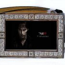BILL COMPTON PHOTO TRUE BLOOD BLING ICED OUT CZ SILVER BELT BUCKLE