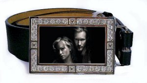 ERIC SOOKIE PHOTO TRUE BLOOD BLING ICED OUT CZ SILVER BELT BUCKLE