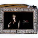 JESSICA HAMBY PHOTO TRUE BLOOD BLING ICED OUT CZ SILVER BELT BUCKLE