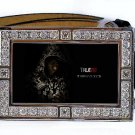 LAFAYETTE PHOTO TRUE BLOOD BLING ICED OUT CZ SILVER BELT BUCKLE