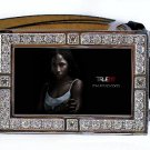 TARA THORNTON PHOTO TRUE BLOOD BLING ICED OUT CZ SILVER BELT BUCKLE