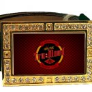 TRUE TRU BLOOD DRINK BLING ICED OUT CZ GOLD BELT BUCKLE