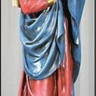 "Virgin Mary and Baby Jesus Mother's Kiss Stone Resin Statue 23"" High"