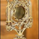 "Traditional Catholic Brass Ornate Monstrance Style Reliquary 11 1/2""H x 5""W"