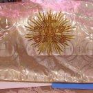 "Gold Brocade Vestment Liturgical Pillow Bishop's Kneeler or Wedding 39"" x 24"""