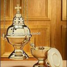 Catholic Eastern Rite Byzantine Censer and Boat Set with 12 Bells and Spoon