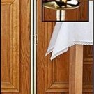 "Lenten Paschal Candle Stick  44""H x 12""W x 2"" & 3"" Dia. Socket Brass NEW"