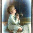 Catholic Picture Print Wood Plaque Boy Praying Baptism New Baby Mylar Frame
