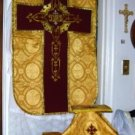 Gold Chasuble Vestment Fiddleback 5 Pieces NEW Lovely Latin Mass FREE SHIP USA