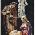 "Hand Painted Nativity Set Resin 3 Pieces Virgin Mary, Joseph, Baby Jesus 24""High"