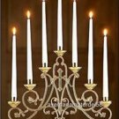 "Catholic Altar Candelabra Ave Maria Style Seven 7/8"" Sockets 14 1/2""H x 19""W"