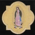 """A Catholic Vestment Applique Virgin Mary of Guadalupe 9"""" x 9"""" Inches  NEW"""