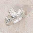 Silver Heart Claddagh Sterling Silver Ring Irish Catholic Courtship/Wedding 5-10
