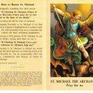 Saint Michael Holy Card Lot with Prayer Folder Type 10 Cards @ $2.00