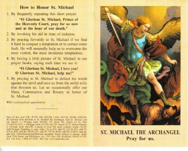 Saint Michael Holy Card Lot with Prayer Folder Type 10 Cards @ $2.00