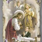 """First Communion Wood Plaque Picture Boy 4"""" x 5.8"""" Nice!"""