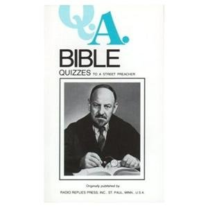 Bible Quizzes Fathers Rumble and Carty Radio Replies Reprint from 1940's
