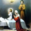 Catholic Picture Print Jesus Mary Joseph Holy Family by Cromo of Italy 8x10