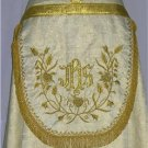 Gold Cope Vestment with Stole Gold Brocade Damask Fabric Embroidery High Mass