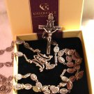 "Miraculous Medal Silver Oxidized Rosary by Ghirelli Gift Boxed 22.5"" Long"