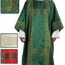 White Deacon Dalmatic Gold Banding in Jacquard and Lined in Satin with Stole