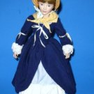 Franklin Mint Porcelain Doll 1983 Heirloom Doll 17 Inches Vintage with Stand